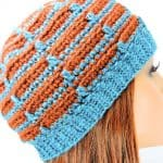 Easy Dashes Beanie Modern Free Crochet Pattern