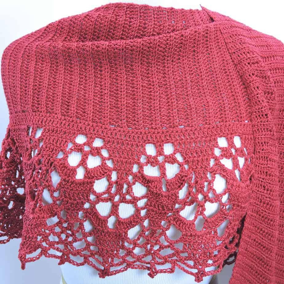 Cinnamon Shawl Wrap Crochet CrochetKim Free Pattern