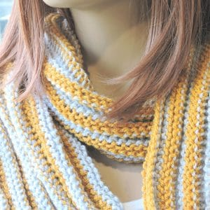 Day Trekking Scarf Free Reversible Tunisian Crochet Pattern