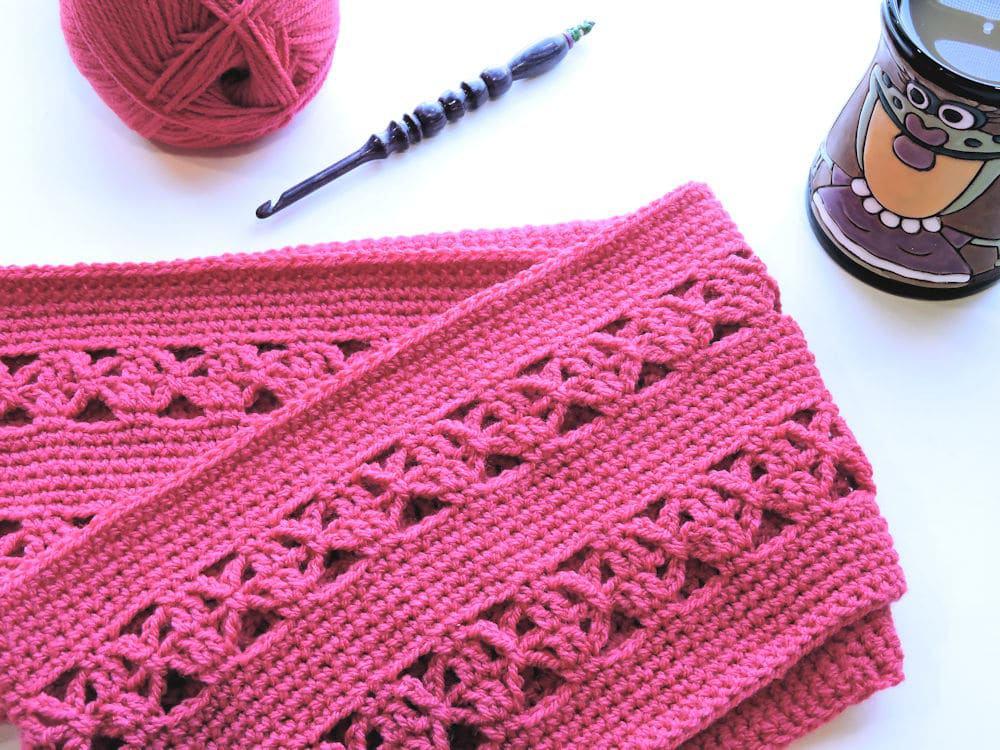 Lunar Crossings Infinity Scarf CrochetKim Free Crochet Pattern