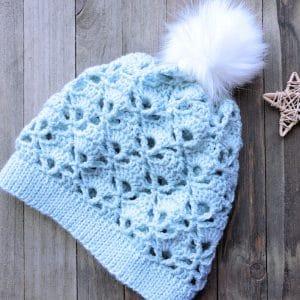 Skyline Snapdragon Slouchy Beanie Free Crochet Pattern