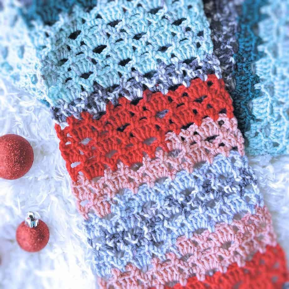 Vintage Holiday Lace Scarf CrochetKim Free Crochet Pattern