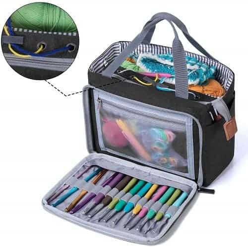 Luxja Crochet Tote Bag