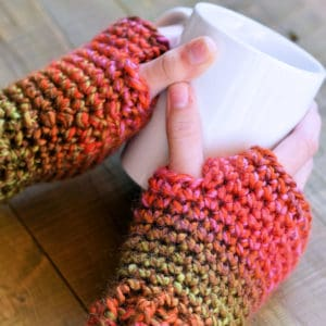 Easy Crochet Texting Mitts in Lion Brand Unique